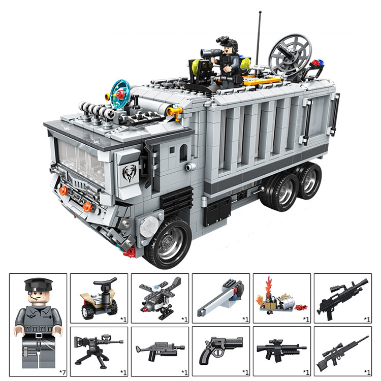 P Models Building toy Compatible with Lego P635016 1628Pcs Gun Strike Blocks Toys Hobbies For Boys Girls Model Building Kits