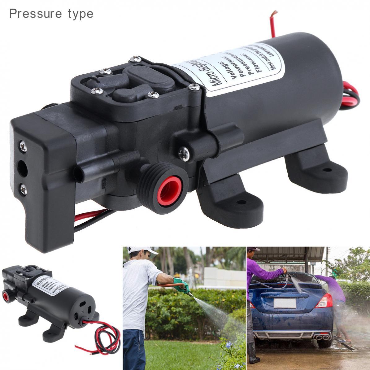 12V 60W Durable 5L/min Self-suction DC Intelligent Mini Diaphragm High Pressure Electric Car Wash Pump For Car / Home / Garden