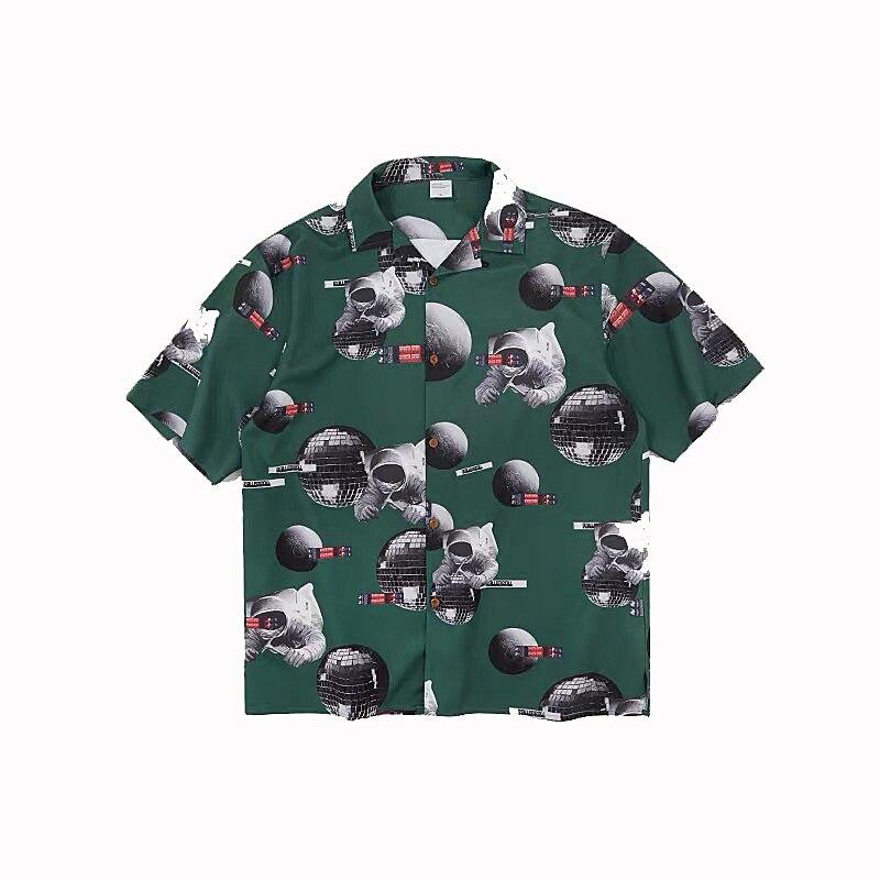 HFNF hip hop streetwear men Hawaiian Printed Floral summer floral rapper beach shirts for Youth Harajuku Leisure