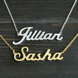 Любой персонализированное ожерелье C именем сплава кулон Элисон шрифт Очаровательная подвеска колье с заказным именем уникальная цепочка
