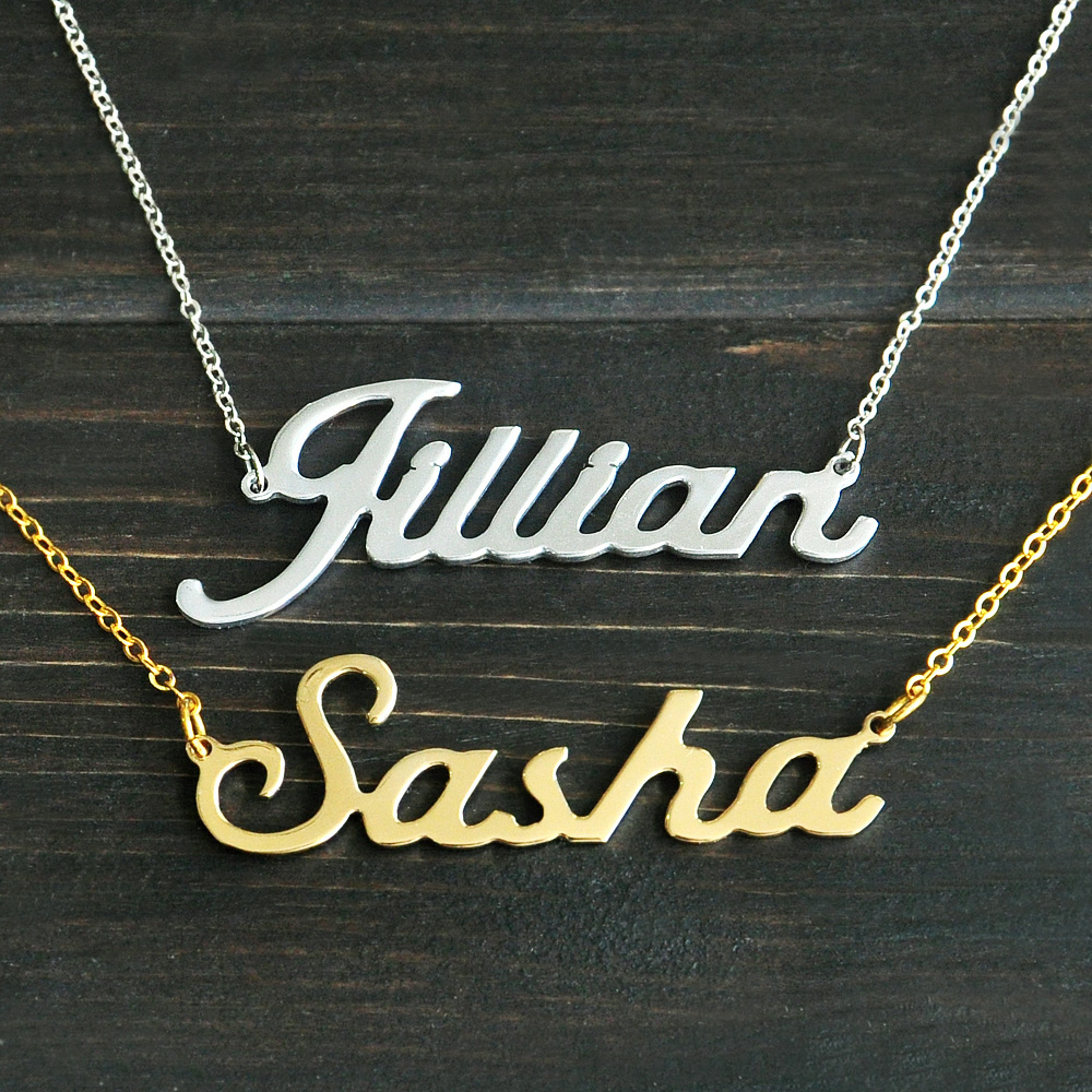 Any Personalized Name Necklace alloy pendant Alison <font><b>font</b></font> fascinating pendant custom name necklace Personalized necklace image