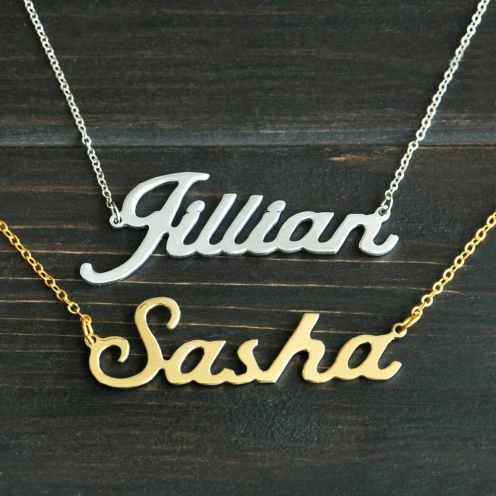 Jede Personalisierte Name Halskette legierung anhänger Alison schrift faszinierende anhänger benutzerdefinierte namen halskette Personalisierte halskette