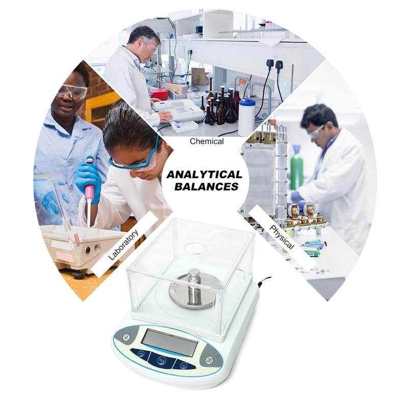 Balance analytique de laboratoire de 2 KG 0.01g bijoux de précision Balance de cuisine de comptage Balance de poids Balance analytique numérique
