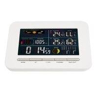 Беспроводной Профессиональные Метеостанции Крытый Открытый Термометр Влажность Экран Цветной Дисплей Метеостанции Будильник
