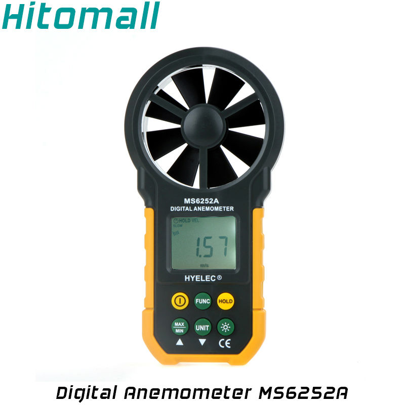 Professional Wind Speed Test Meter Multifunction Digital Anemometer Air Speed  Air Flow Air Volume Thermometer Humidity MS6252A  цены