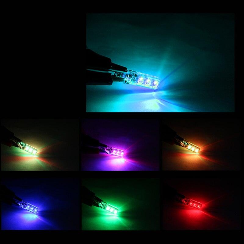 T10 W5W RGB светодиодный Габаритные фонари для автомобиля SMD RGB T10 светодиодный 194 168 лампы дистанционного Управление Светодиодный светильник освещение для чтения в машине Z2