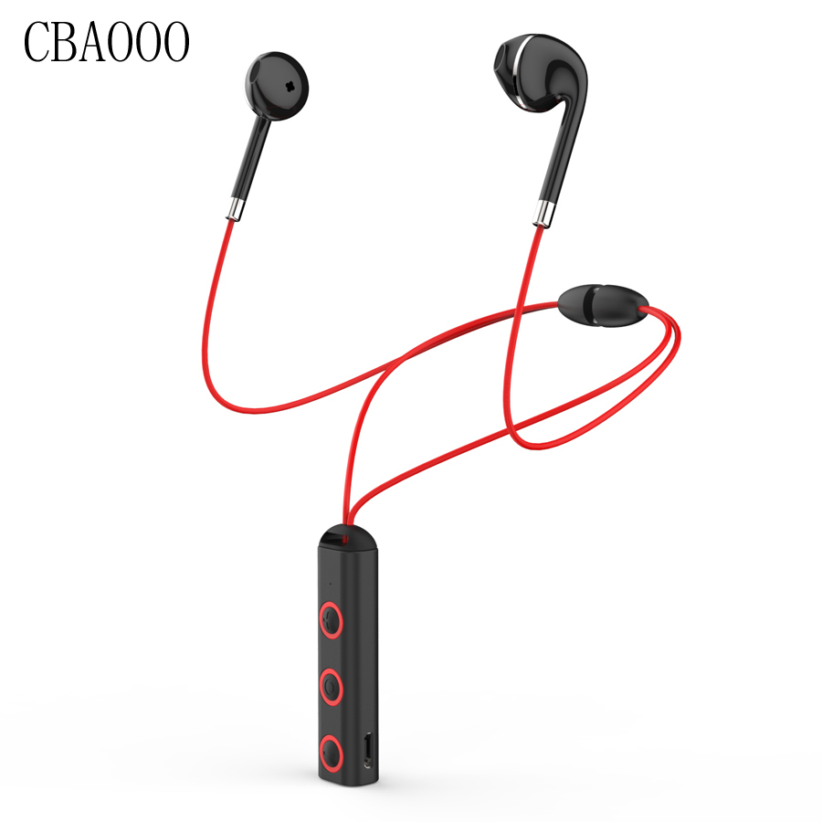 CBAOOO Wireless Bluetooth Earphone Magnetic Sports Wireless Headsets With Mic Stereo Bluetooth Headphones For Phone MP3 xiaomi цена 2017