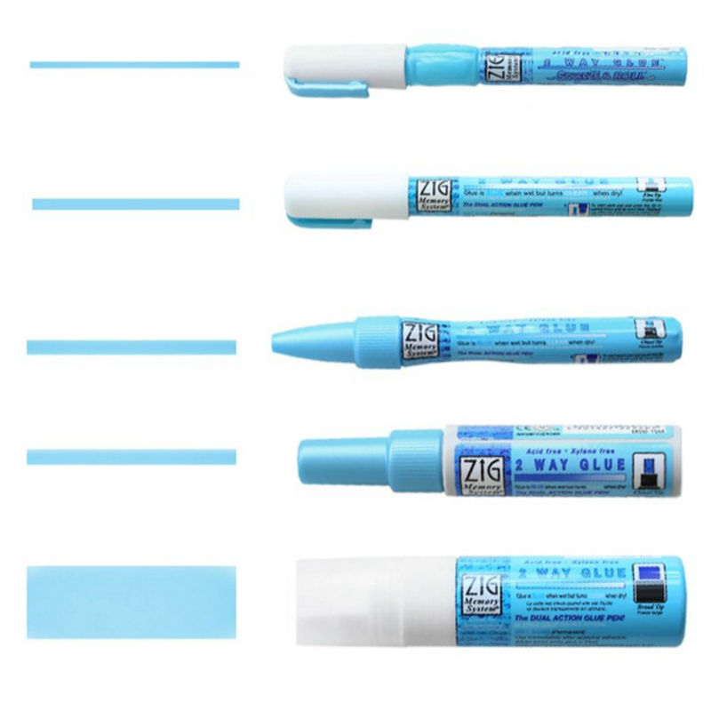 Kuretake ZIG Environmental Protection Coloured Glue DIY Glue Pens for School Office Supplies Art Marker Pen Japanese Stationery