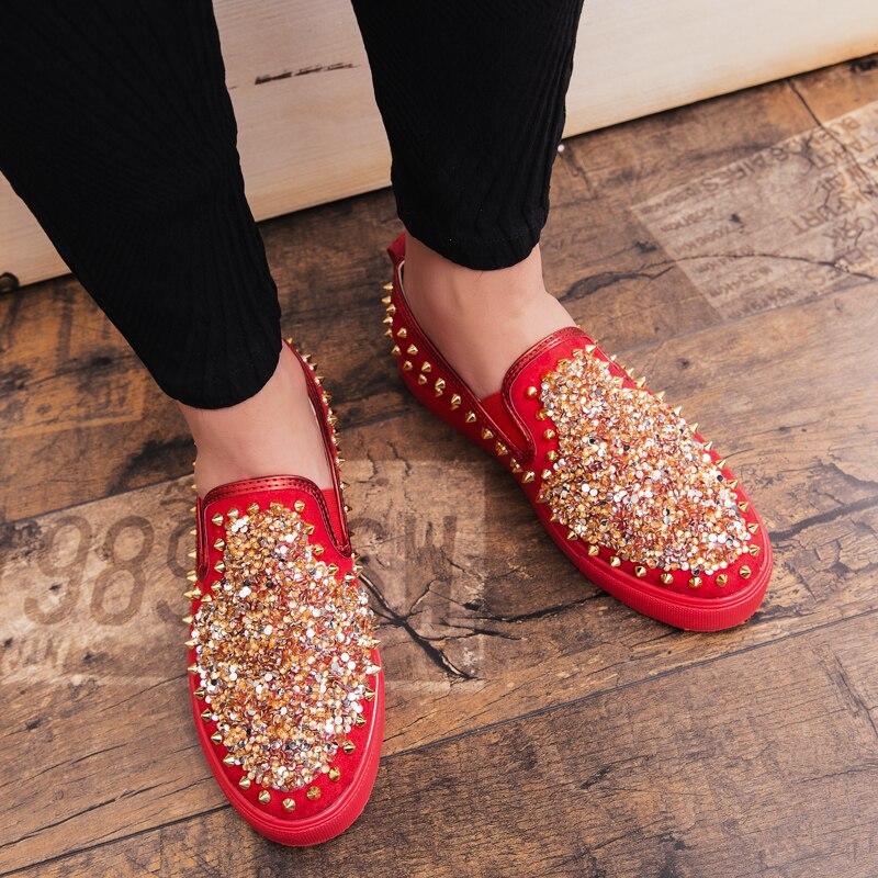 Hommes Été Cnfiia Offre red Noir Luxe Printemps Casual on Shoes Chaussures Designer Black Homme Mocassins De Spéciale Rouge Marque automne Shoes Slip appqdx