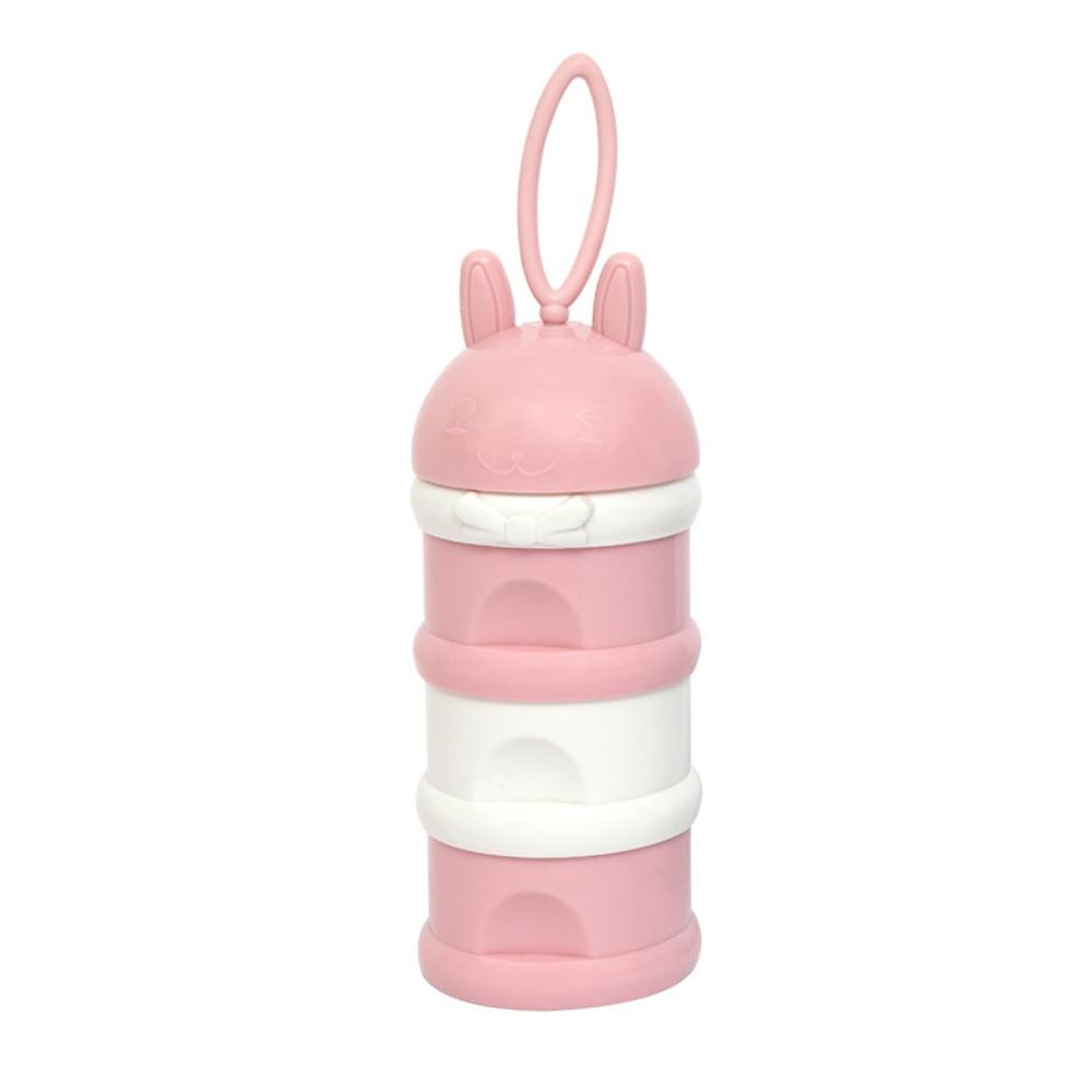 Коробка для сухого молока сухое молоко для новорожденного коробка малыш ребенок коробка для сухого молока креативный полипропилен милый трехслойный закуски - Цвет: Pink