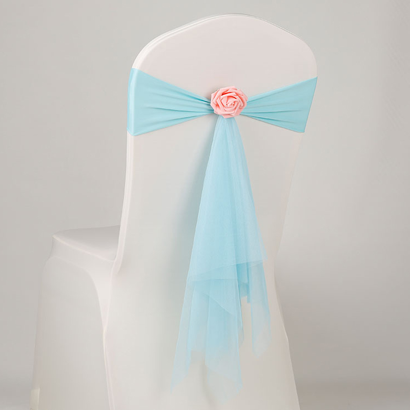 Aqua синий твердый стул связи с цветок украшение для день рождения реквизит для детей ясельного возраста