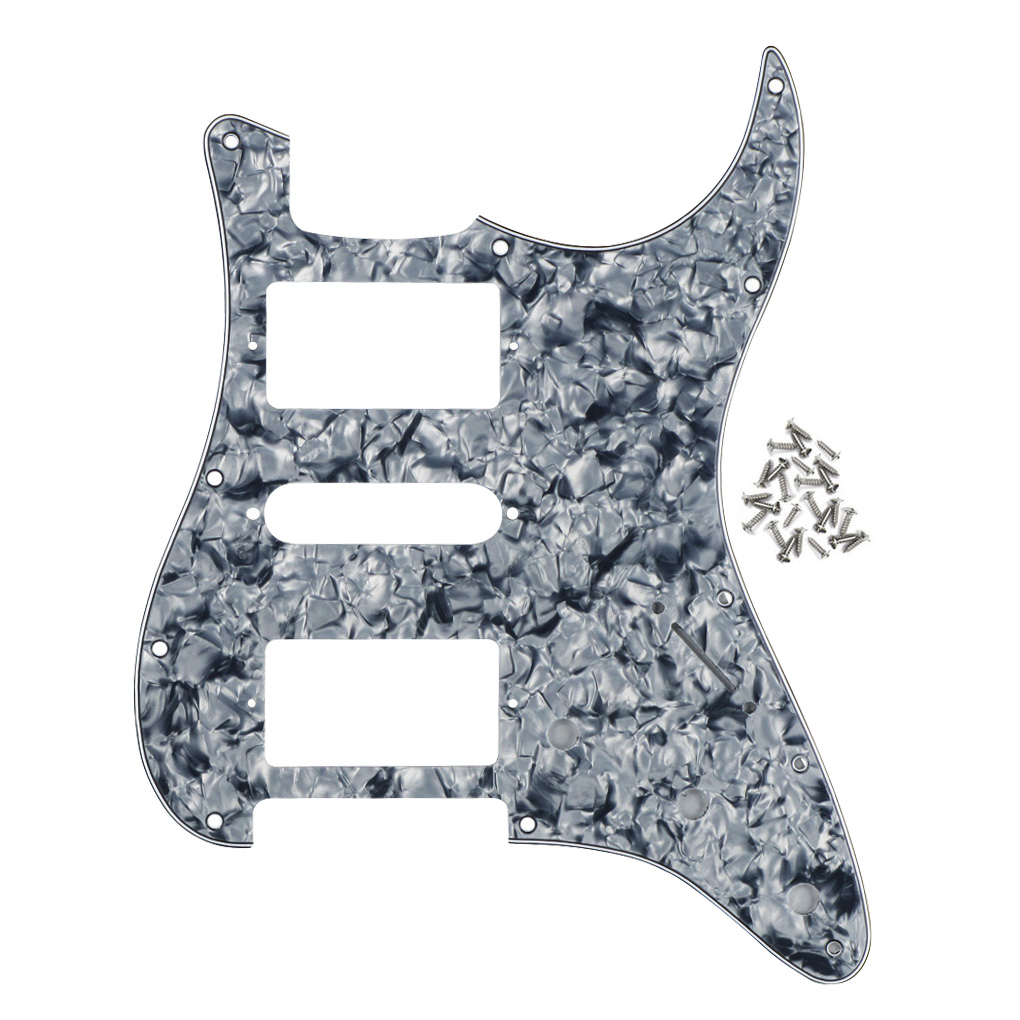 Sports & Entertainment 11 Holes Hsh Electric Guitar Pickguard Scratch Plate 4ply & Screws For Fd St Guitar Parts & Accessories grey Pearl Guitar Parts & Accessories
