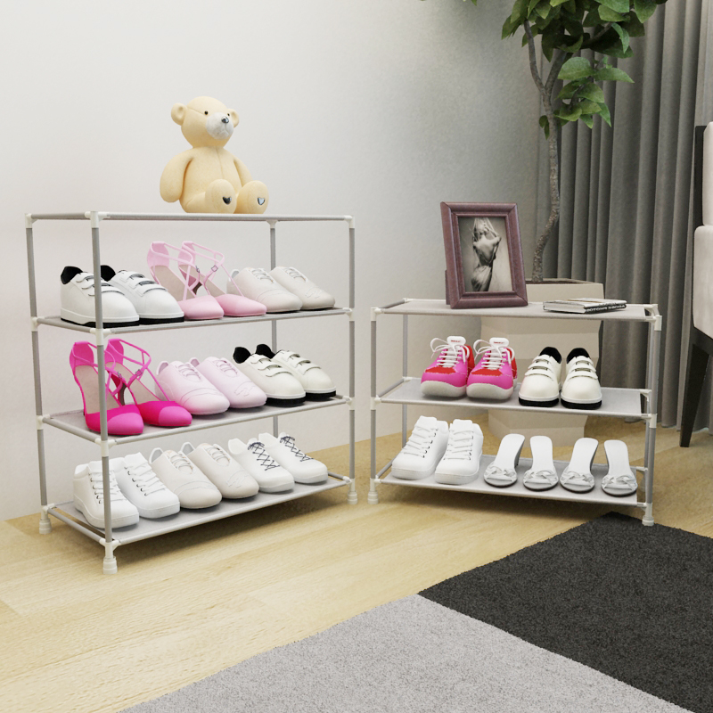 Simple dormitory hall shoe rack multilayer thick dust cloth shoes small assembly Specials