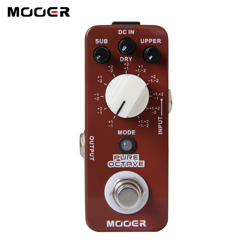 mooer pure octave pedal with no distorted sound 11 different octave modes true bypass guitar. Black Bedroom Furniture Sets. Home Design Ideas