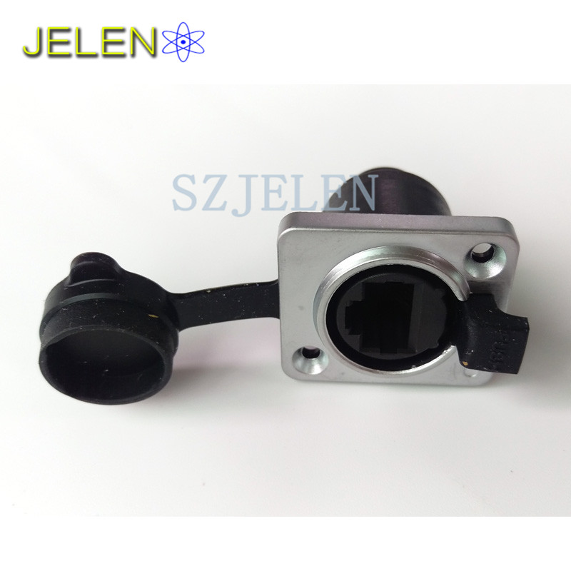 цена на RJ45 waterproof Dustproof connector sockets, RJ45 female connectors, Network Cable female connector, panel mount connector