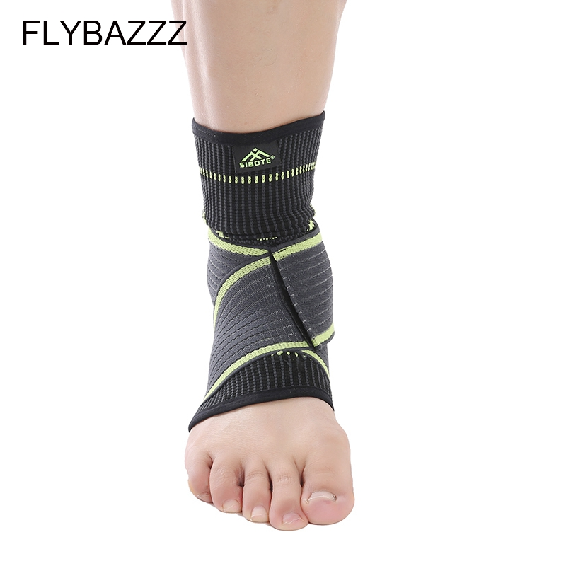 FLYBAZZZ 1PCS 3D Weaving Elastic Nylon Strap Ankle Support Brace Badminton Basketball Football Taekwondo Fitness Heel Protector (3)