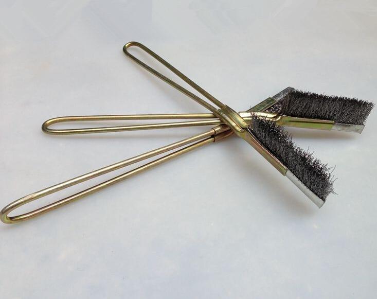 3pcs head + 1 handle Hand Bristle stainless steel Steel Wire Brush Metal steel Handle Tool Rust Paint Metal Remover