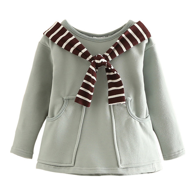 95afe8f084bef طفلة البحرية نمط قميص ربيع الخريف الطفل البلوز القمم أطفال الأساسي قميص  الملابس