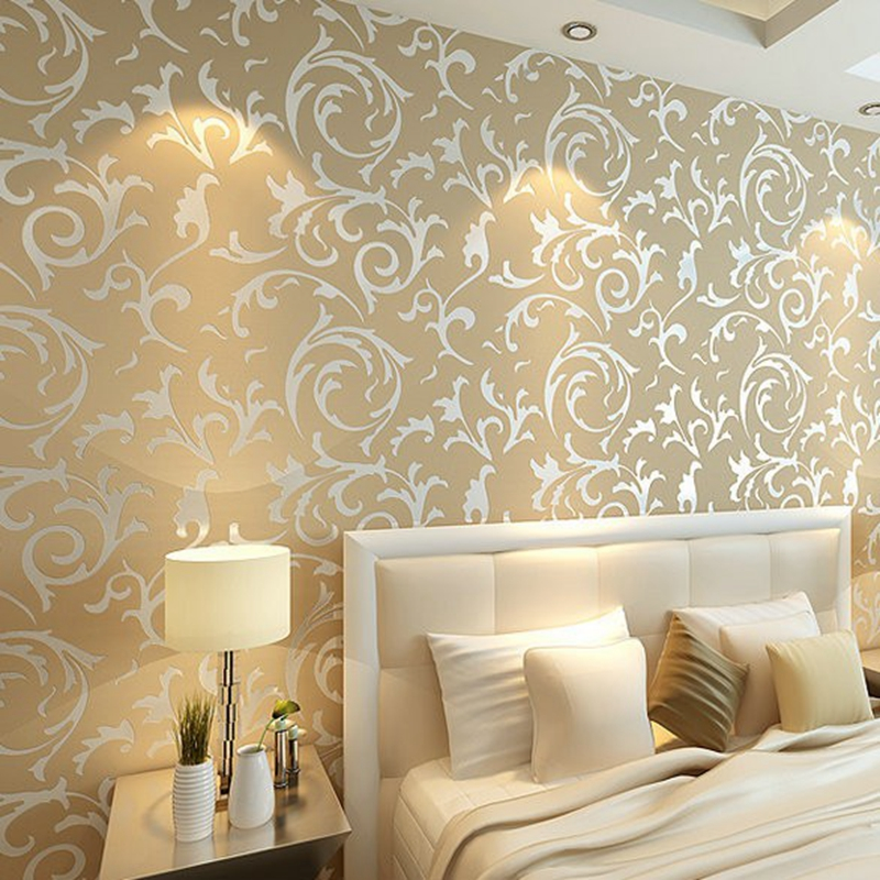 Wallpaper for walls roll picture more detailed picture for Grey silver wallpaper living room