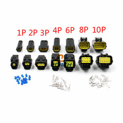 Бесплатная доставка, 1 комплект, 1/2/3/4/6/8/10/12 контактный Водонепроницаемый проводной разъем, автомобильный герметичный Электрический комплек...