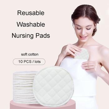 10 Pcs Babyvoeding Tepel Pads Wasbare Verpleging Pad Zachte Absorberende Herbruikbare Nursing Anti-overflow Moederschap Borst Pad Accessoire