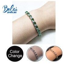 Bolaijewelry, браслет из стерлингового серебра 925 пробы с удивительным изменением цвета, созданным zultanit diaspore fine jewelry для девочек хороший подарок
