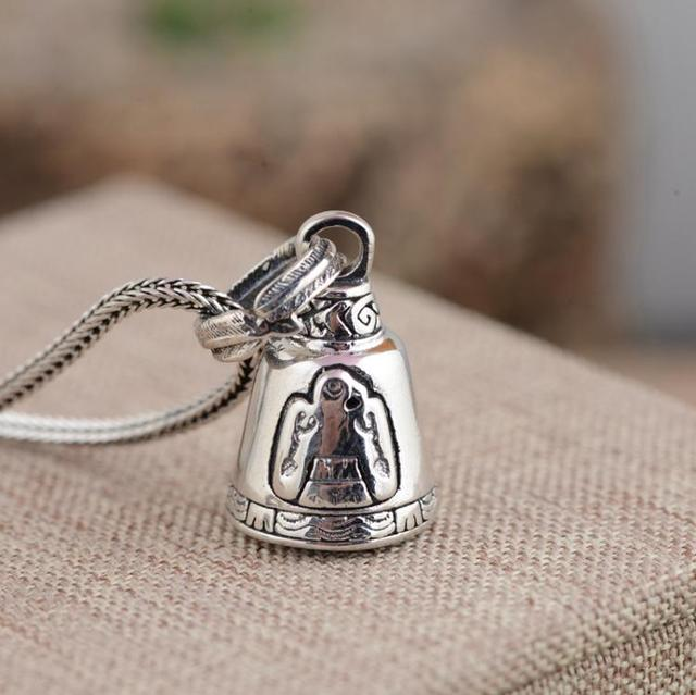 Xiangyuan wholesale sterling silver s925 silver pendant antique xiangyuan wholesale sterling silver s925 silver pendant antique crafts buddhist culture artifact bell evil pendant aloadofball Image collections