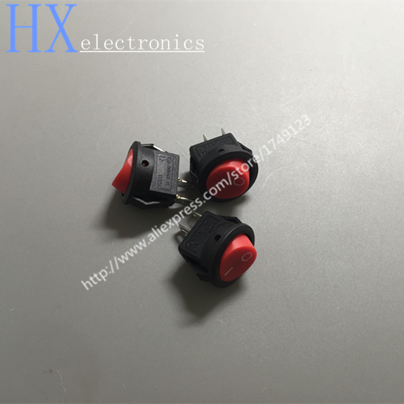 Lights & Lighting Free Shipping 100pcs /lot 15 Mm Red Head Kcd1-2 Circular Form Miniature Switch 3 Boat A250v 2 Feet 2 File High Standard In Quality And Hygiene