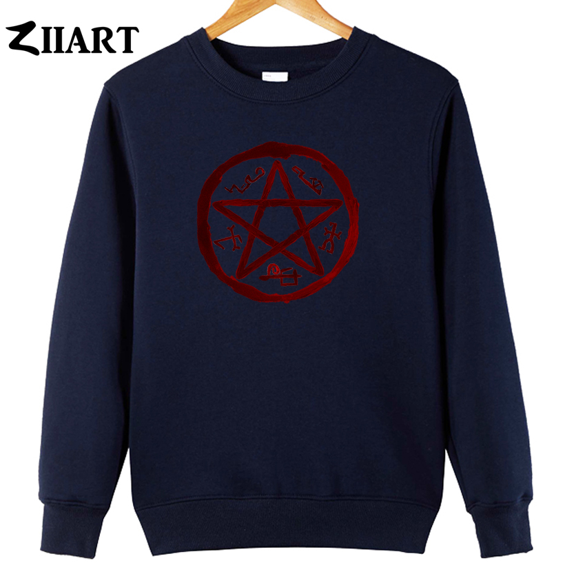Supernatural Demon Symbols Devils Trap Symbol Couple Clothes Boys