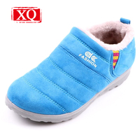XQ Winter Ladies Ankle Boots Anti Skid Warm Shoes Candy Color Snow Boots Student Children Flats