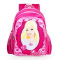 2017 New Arrival Red Nylon Children Bag Cartoon Barbie School Bags For Girls Kids Backpack Schoolbag Mochilas Large Capacity