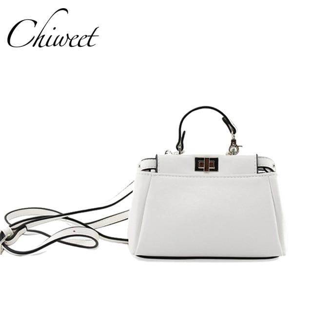 Luxury Ladies Hand Bags Women Famous Brand Designer Lolita Bag Peekaboo  Mini Messenger High Quality White Red Leather Handbags d3c2856e61da6