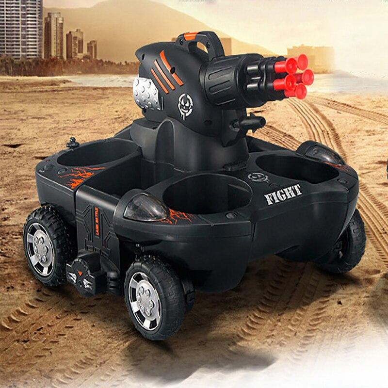 Tanque anfíbio quatro wheel drive controle remoto bomba elétrica spray de água de carregamento do carro de controle remoto para o menino - 5