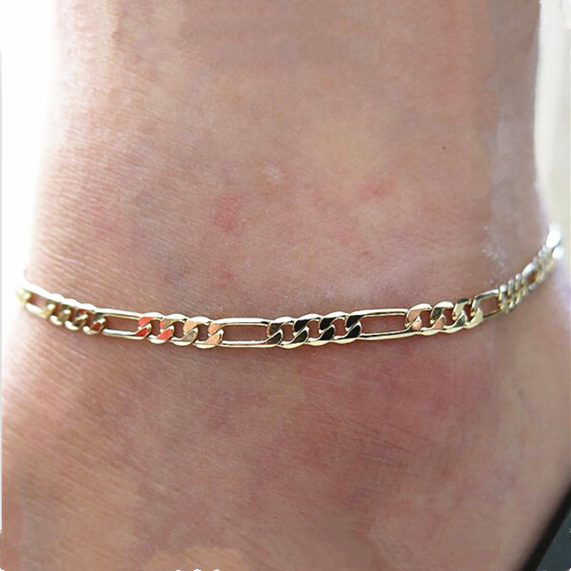 Hot Fashion jewelry trade fashion simple wild paragraph Ms. anklet foot decorated with metal chains called bare chain