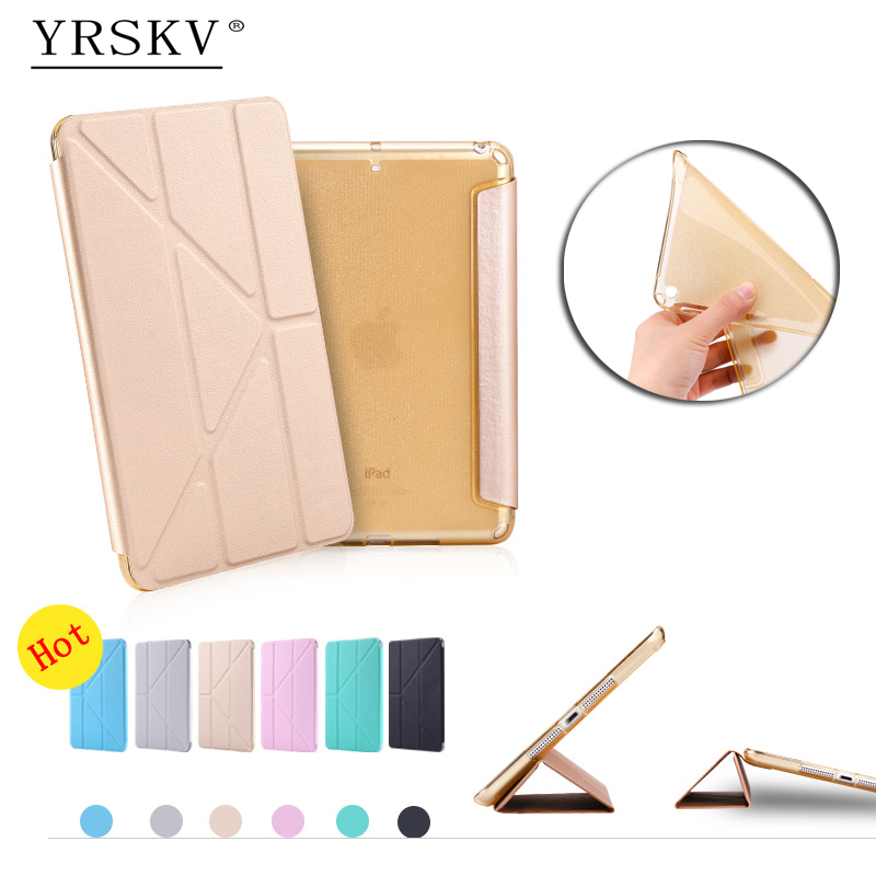 Case for iPad mini 1 mini 2 mini 3 YRSKV Multi-fold PU leather cover+TPU Smart Sleep Wake Tablet Case For Apple iPad mini 1/2/3