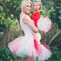 Mamá y Yo Juego Pettiskirt Tutu Conjunto Madre e Hija Tutus Adulto Dama y Falda Del Tutú Del Bebé Foto Complementos Disfraz TS059