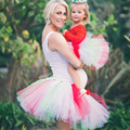 Pettiskirt Mommy and Me Matching Tutu Set Mother and Daughter Tutus Adult Lady and Baby Tutu Skirt Photo Props Costume TS059