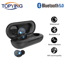TOPYING Sports headsets tws bluetooth 5.0 headphones wireless earphone Waterproof Headfrees Auto Pairing Headset for Android ISO
