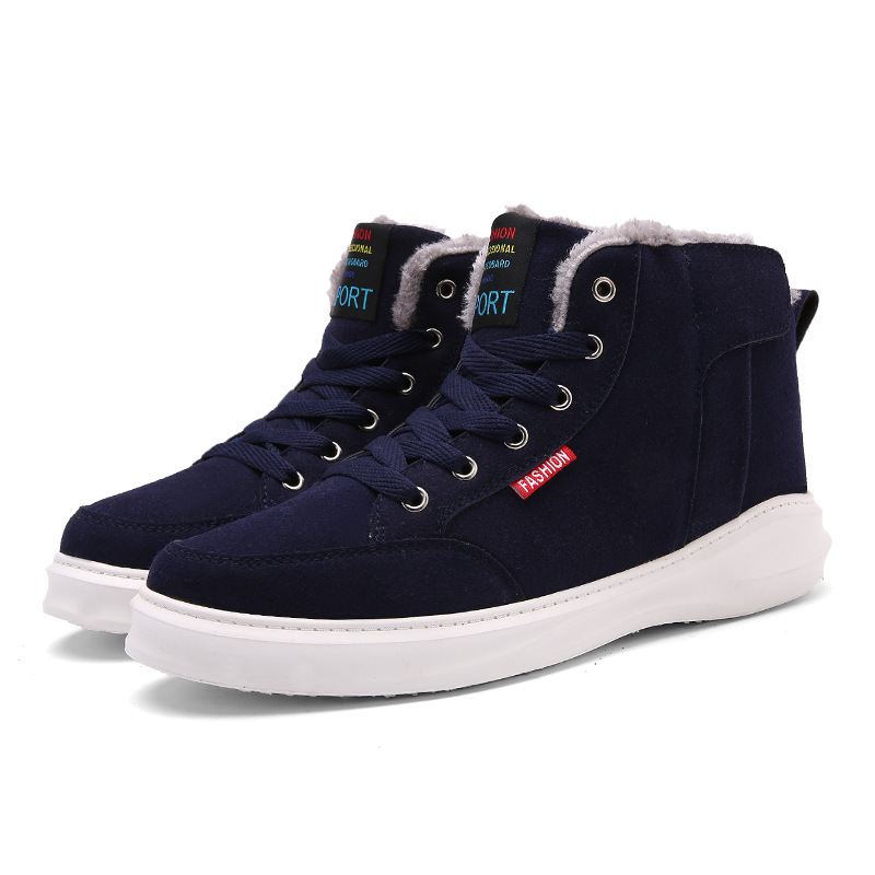 New Winter Sneakers Running Shoes Outdoor Plus Cashmere Warm Snow Boots High To Help Waterproof Men Sports Shoes Zapatillas