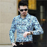 2017 New Spring Fashion Men Clothes Slim Fit Men Long Sleeve Shirt Men Variety Of Colors