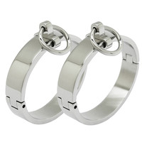 Brushed Steel Wrist Cuffs Ankle Cuffs Leg Cuffs Steel Cuffs