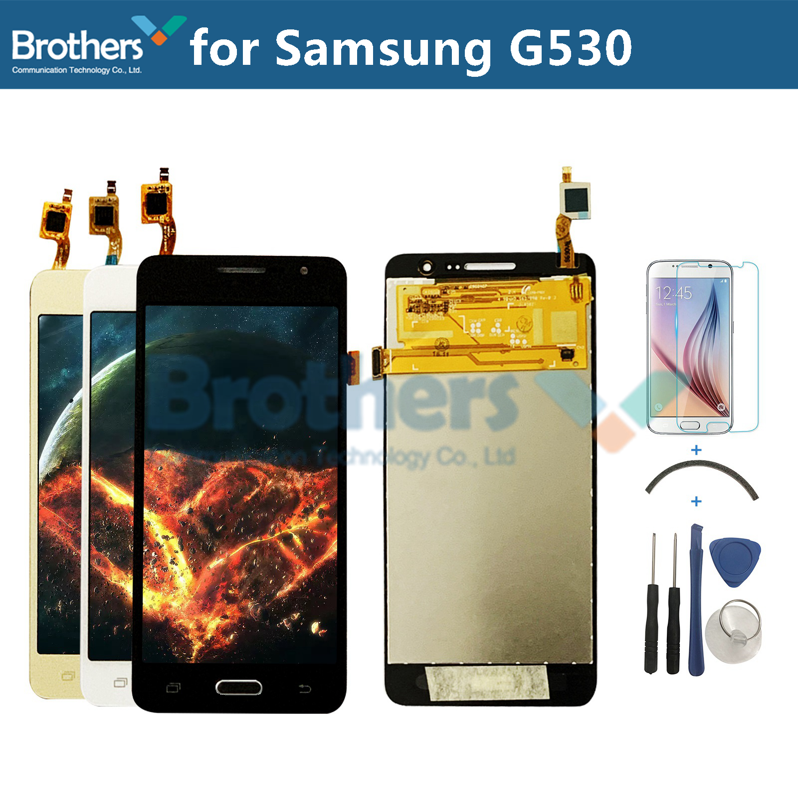 LCD For <font><b>Samsung</b></font> Galaxy Grand Prime <font><b>G530</b></font> G530F G530H LCD <font><b>Display</b></font> Touch Screen Digitizer Assembly For <font><b>Samsung</b></font> <font><b>G530</b></font> G530F G530H LCD image