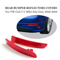 Parachoques trasero ABS reflectante para Volkswagen VW Golf 5 V MK5 R32, accesorios para coche, color rojo, 2 unidades/juego, 2006-2009