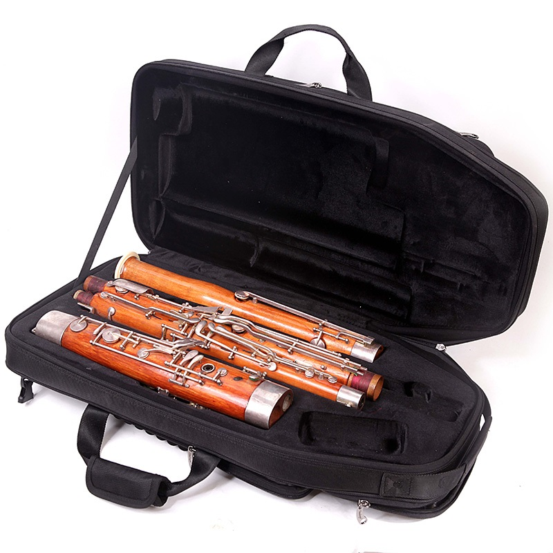 Nylon 1680D materials standard Bassoon case high grade shock absorption Bassoon bag PU leather black wind Instruments backpack bassoon