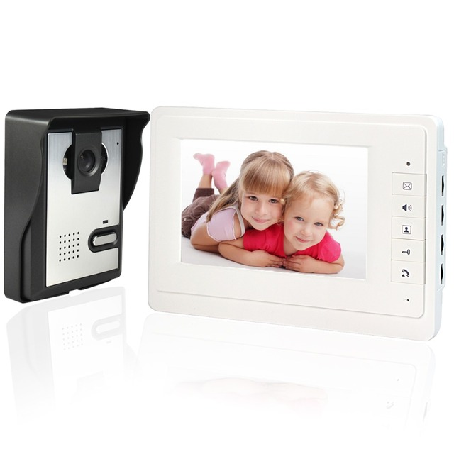 7 Inch Video Door Phone Video Intercom Monitor Doorbell Home Security Camera Monitor Camera Night Vision 1V1 F1639B