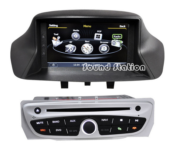car accessories auto spare parts for renault megane 3 dvd gps touch screen monitor s100 media. Black Bedroom Furniture Sets. Home Design Ideas