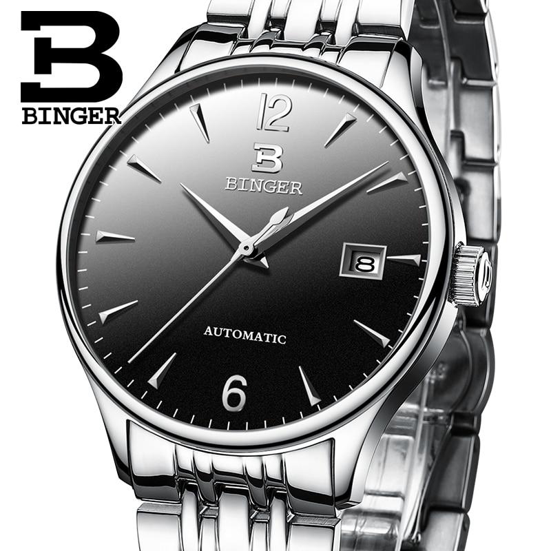 d430c6651 Switzerland Automatic Mechanical Men Watches Binger Luxury Brand Watch Men  Sapphire clock Waterproof relogio masculino B