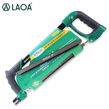 1PCS LAOA 12Inch Heavy Duty Wonder Saw Rubber Wrapped Aluminum Alloy Steel Saw Frame Garden Hand Saw Hand Rip Saws