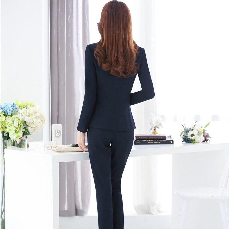 a741b80439e4 Giacche Dark Ol E Ufficio black Vestiti Stili Per Signore Le Formato  Pantalone Il Pantaloni Autunno ...