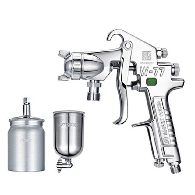 Anest Iwata Air Mini rociadores de pintura de pistola W-77 aceite profesional de pintura automotriz pistolas de pintura de coche boquilla W77 Manual